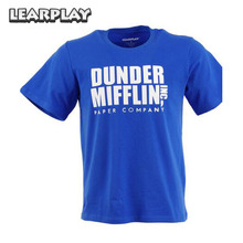 Dunder Mifflin Inc A Paper Company Funny Summer T-Shirt TV Show Holiday Gift Adult The Office Blue Tee Shirts Men Women Tops