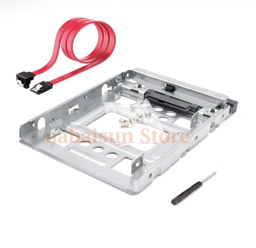 Адаптер для жесткого диска Eunaimee 654540-001 2,5 дюйма до 3,5 дюйма SATA SSD, микросервер с кабелем SATA для 651314-001 x7k8w 774026-001, чехол для ПК