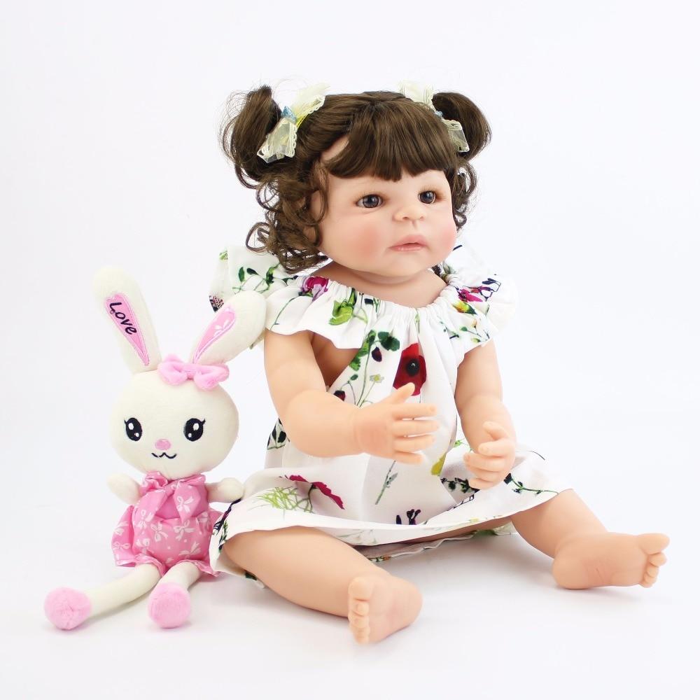 55 см полный средства ухода за кожей силиконовые Reborn Baby Doll игрушечные лошадки для обувь девочек дешевые Bonecas новорожденных принцесса Bebe жив