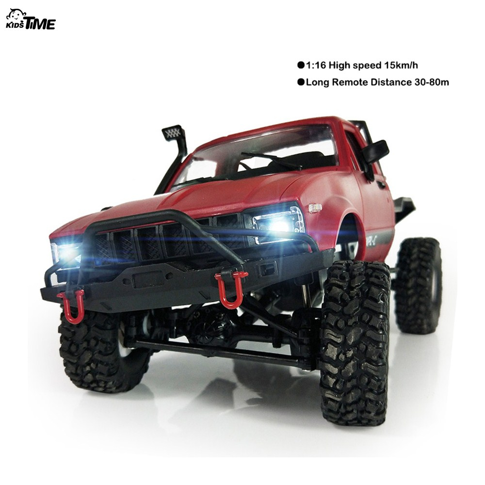 2018 new WPL C14 1:16 2ch 4wd Children RC Truck 2.4G Off-Road Truck Electric RC Car 15km/H Top Speed RTR/KIT Mini Racing Car Toy new arrival wpl wplb 1 1 16 2 4g 4wd rc crawler off road car with light rtr toy gift for boy children