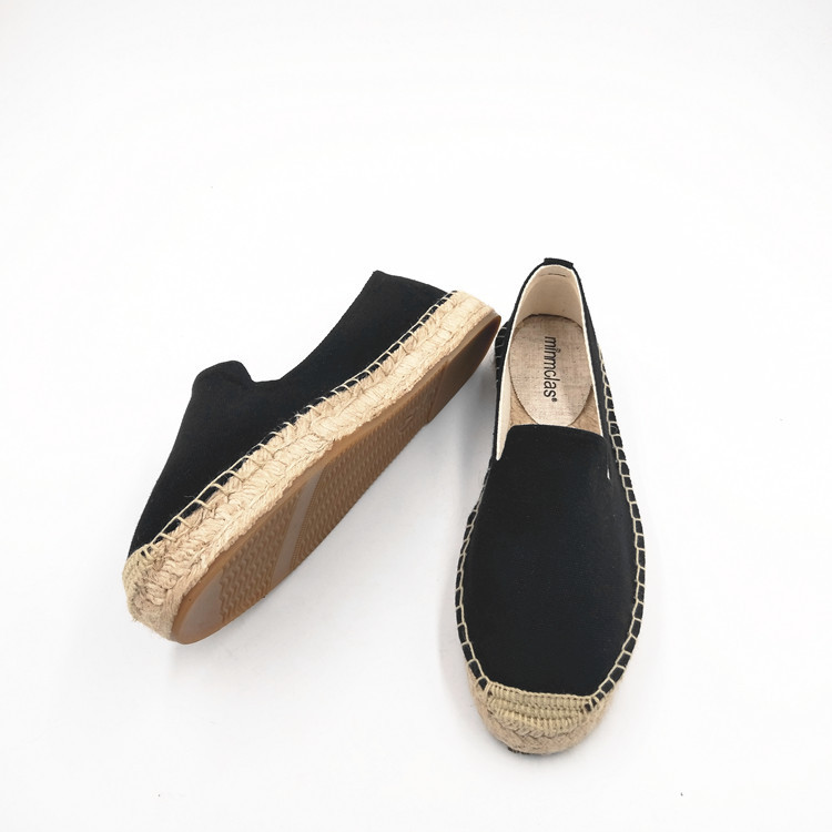2019 New Fashion Embroidery Comfortable Palform Ladies Womens Casual Espadrilles Shoes Breathable Flax Hemp Canvas for Girls 6