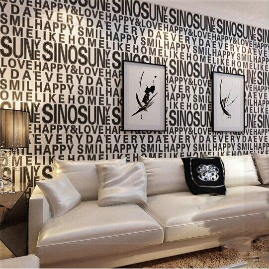 Aliexpress Com Buy Home Decor Black White Wallpaper Decor For