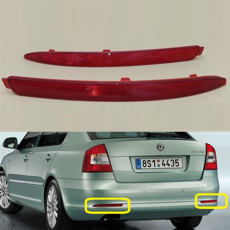 New OEM Genuine For Skoda Octavia A5 A6 2009 2010 2011 2012 2013 Rear Bumper Light Left and Right Bar Reflector Lamp Car-Styling car usb sd aux adapter digital music changer mp3 converter for skoda octavia 2007 2011 fits select oem radios