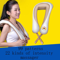 1pc U Shape Electrical Shiatsu Back Neck Shoulder Massager Body Infrared 3D Kneading Massager SE19D5