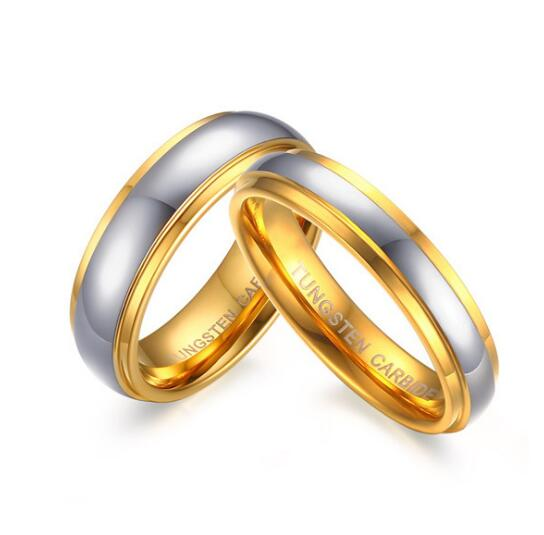 Choose Men Women Pure Tungsten Carbide Smooth couple Rings wedding