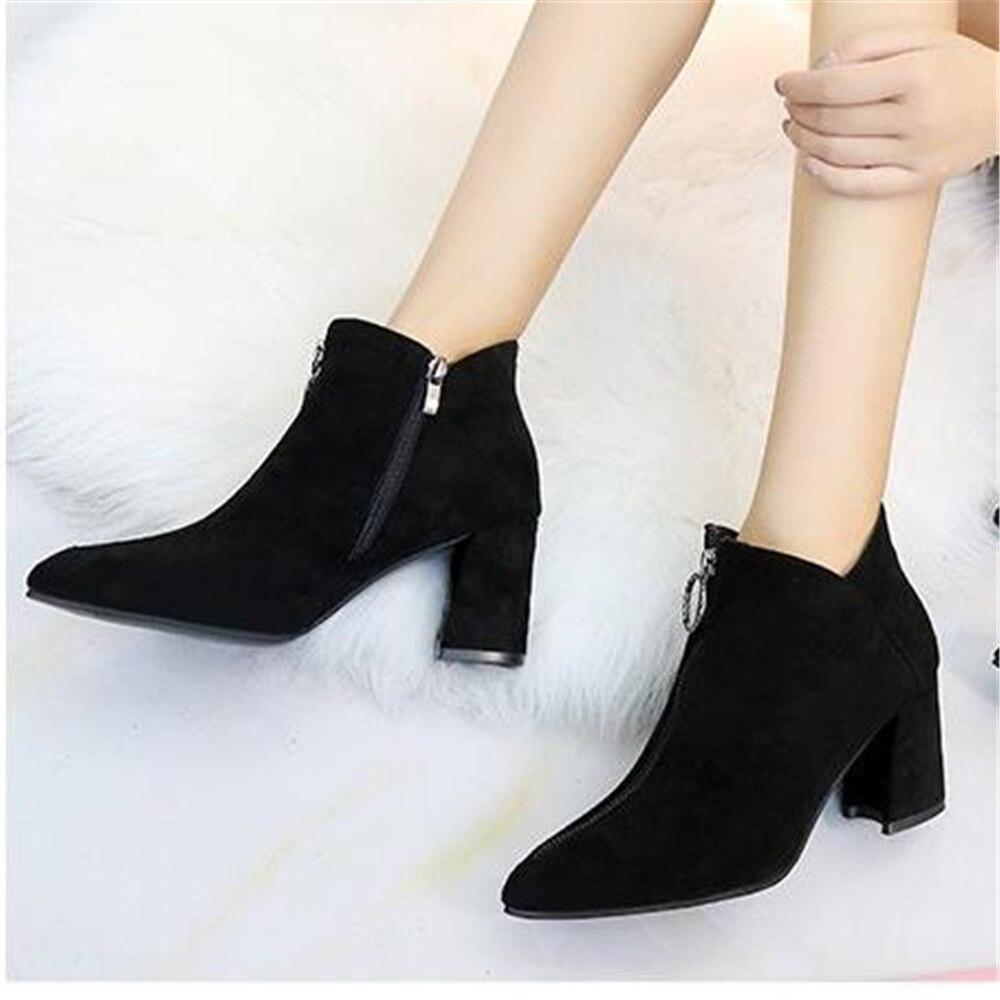 6072e055dbec0 Bottes Ms En Mode Crysta Chaussures Épais Femmes De Et Style Avec  angleterre 2 Daim Européen ...