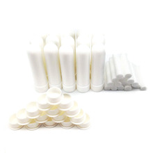 100Pcs לבן ריק האף משאף ריק ארומתרפיה שמן האף משאף צינורות להשלים מקלות עם כותנה ליבה