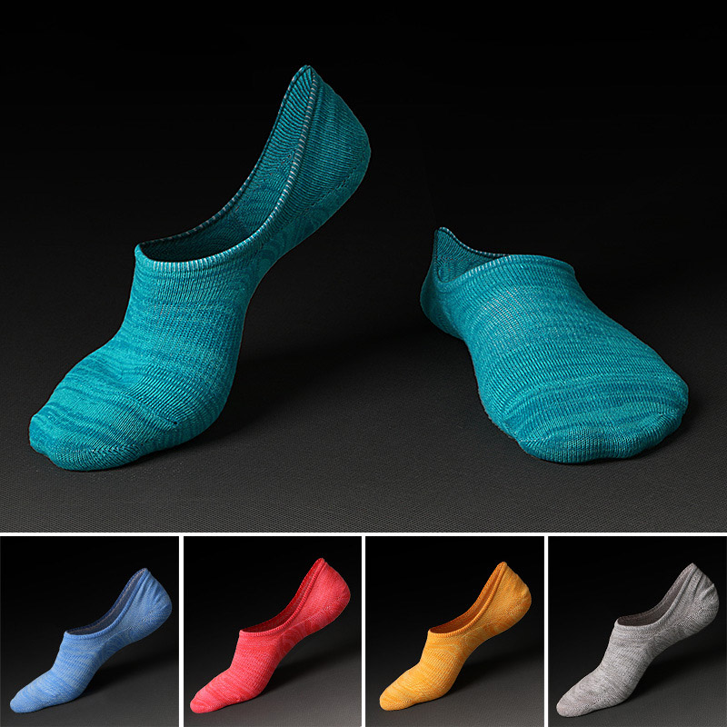 Japan Fashion High Quality Summer Cotton Mens Socks Invisible Shallow Mouth Silicone Non-Slip Short Socks For Men Slippers D210