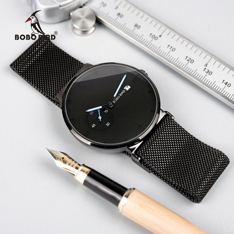 Neue Mode Männlichen Uhr Männer Quarz Analog Uhren Frauen magnetische Strap Bule Kleine zifferblatt relogio masculino Dünne BOBO VOGEL