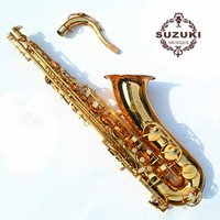 Japanese SUZUKI ZK 564 Professional High Quality Musical Instruments Tenor Saxophone Bb Tone Brass Gold Plated