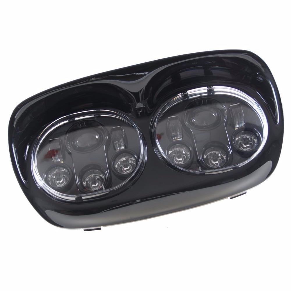 1 шт. мотоцикл светодиодные фары LED высокого/низкого двойной налобный светодиодный Мото дневного света для Harley Davidson мотоциклов