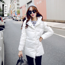 2016 winter jacket female duck Parkas Casual Jackets in the '60 s, 1950 s long warm turtle neck women winter warm overcoa
