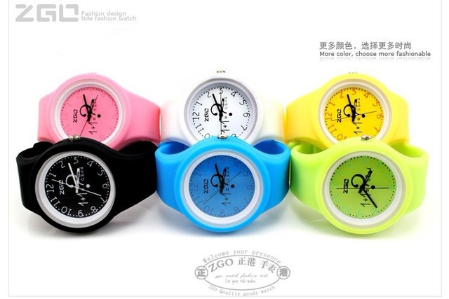 Free shipping high quality Hongkong famous brand colorful caddy watch rubber watches jelly silicone sports watches