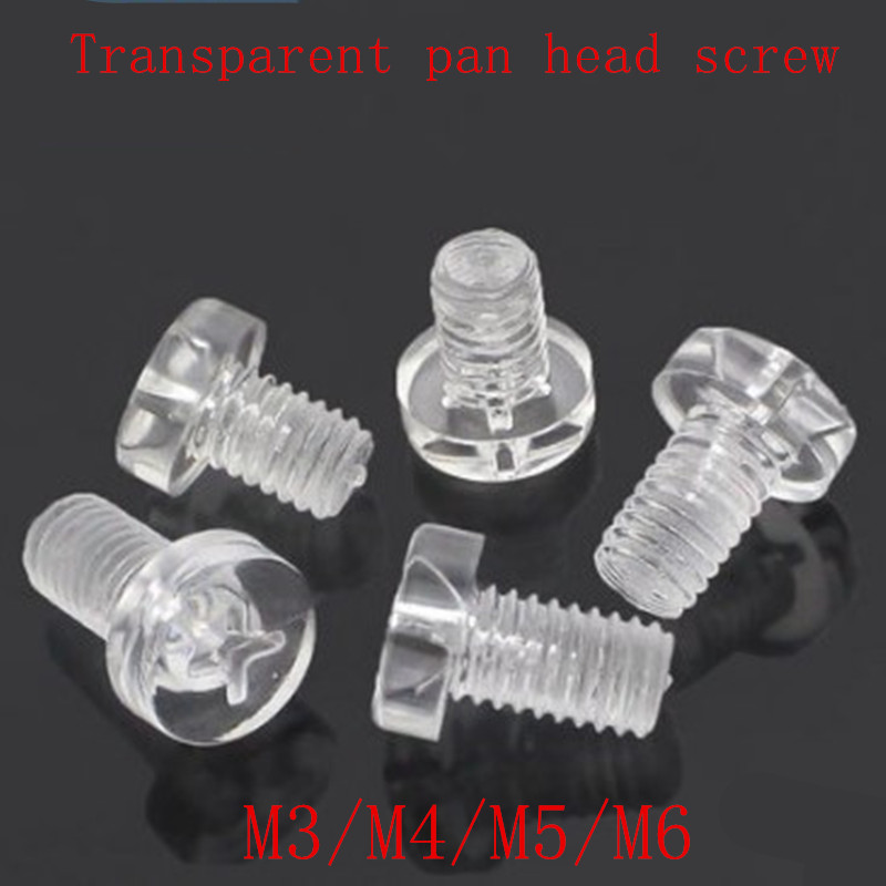 50PCS M3 M4 Transparent Acrylic Phillips Pan Head Machine Screw Insulation Screw босоножки marco bonne marco bonne mp002xw141tb