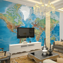 3d wallpaper papel de paredeEuropean painting large murals TV backdrop world map custom wall covering parede