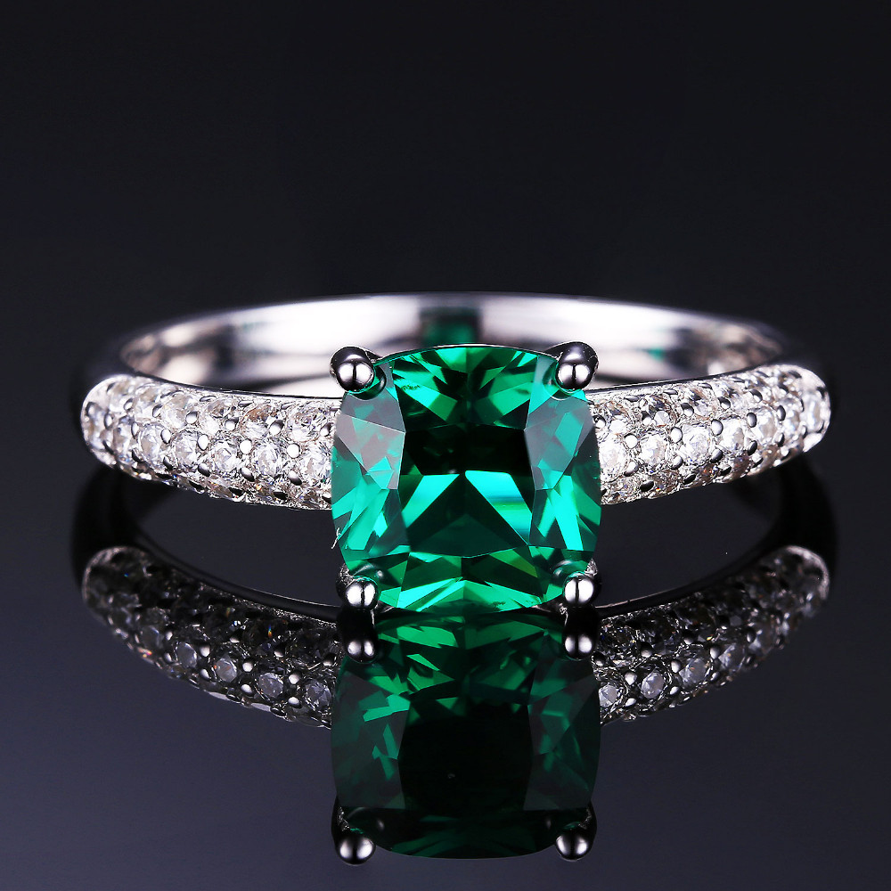 NakitPalace 8.7ct Emerald Ring Privjesak Clip Naušnice Set 925 - Fine nakit - Foto 2