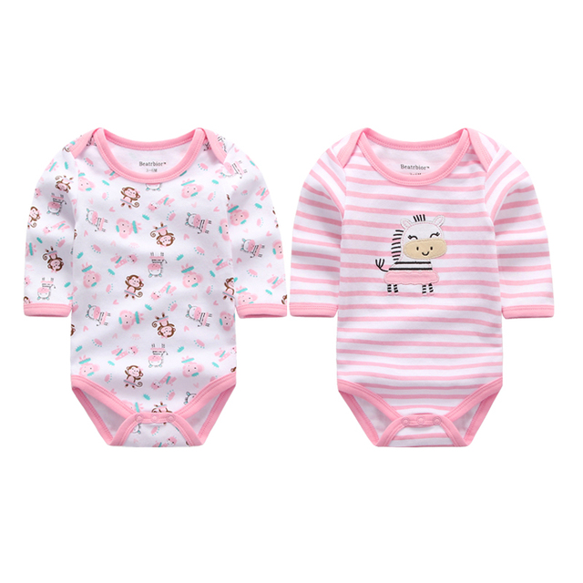 2 Pieces Lot Wholesale Newborn Baby Clothes Infant Long Sleeve Baby