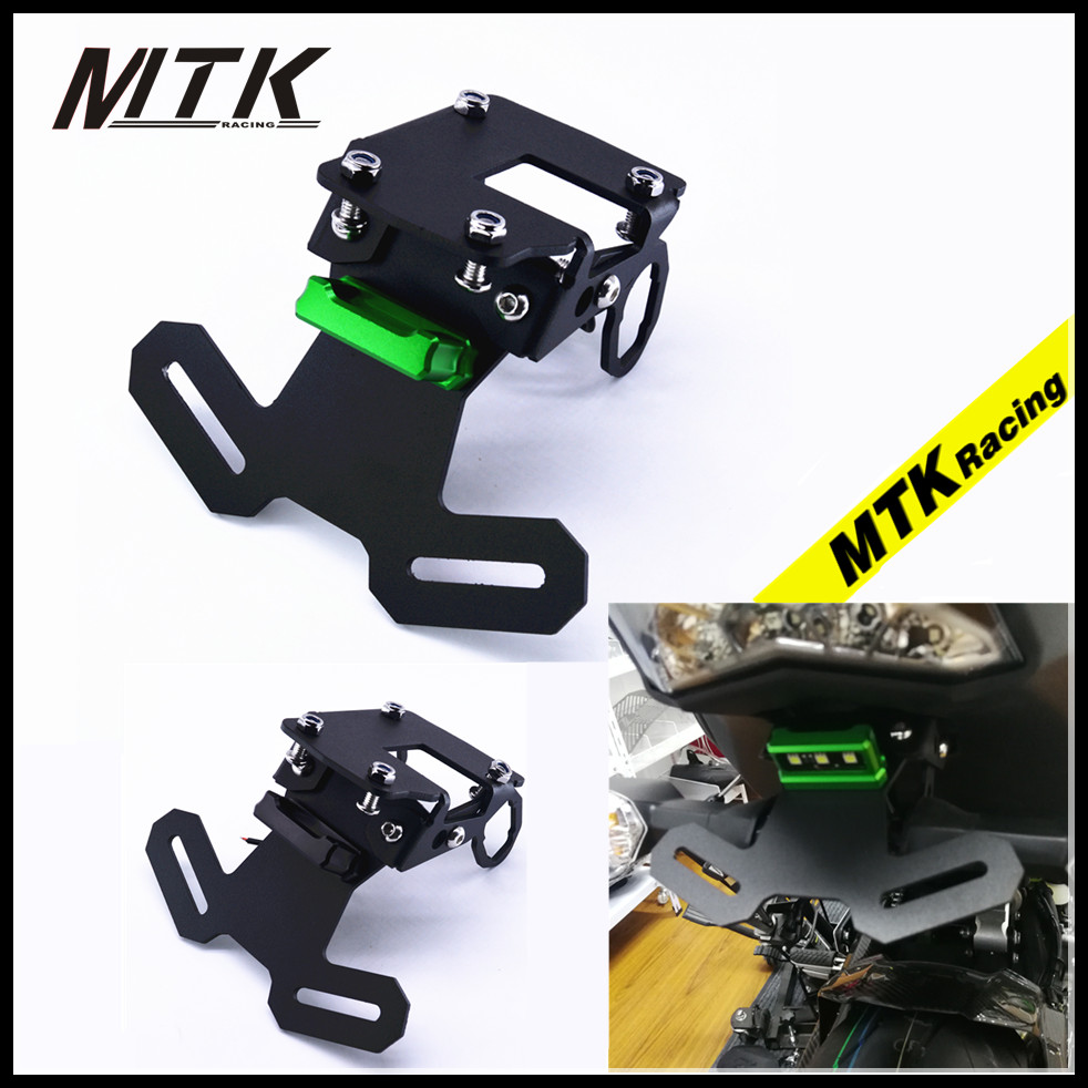 MTKRACING Motocycle parts z 900 2017 Fender Eliminator Registration Bracket License Number Plate Holder For Kawasaki Z900 2017 motorcycle tail tidy fender eliminator registration license plate holder bracket led light for ducati panigale 899 free shipping