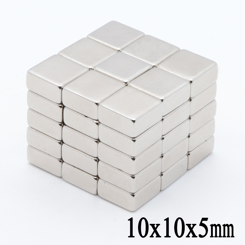 100pcs 10x10x5 mm neodymium magnet 10mm*10*5mm strong rare earth magnets 10*10* 5 mm NdFeB permanent round magnetic 10mmx10x5mm(China)