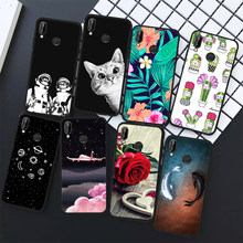 TPU Phone Case For Huawei Y9 2018 P20 Lite Mate 10 Pro P10 P8 P9 Lite 2017 Flowers Animals Patterned Cover Shell Coque(China)