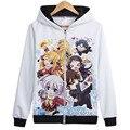2017 New Arrival Charlotte Sweatshirts Nao Tomori Women & Men Hoodies 3D Zipper Sweatshirt Anime Comics Teenagers Student