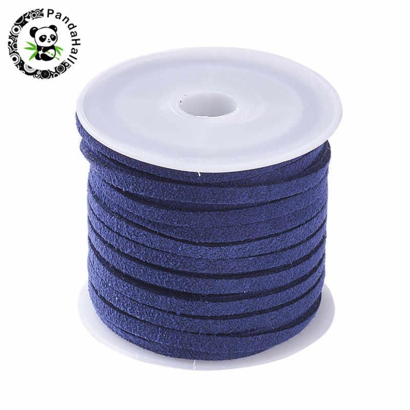 3mm 4mm 5mm 5 m/rolo cor misturada falso camurça cordão diy laço corda de couro pano sapatos jóias fazendo encontrar acessórios