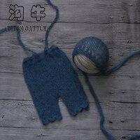 Rzemieślnicze SYX-150615-2 strony Dziecka Dzianiny Moher Maski i spodnie na Baby Shower Prezent, Baby Stock Rekwizyty