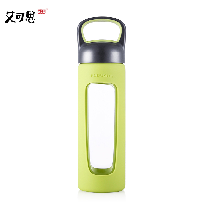 X&W 520ml Glass Bottle With Stainless Steel Strainer My Portable Sport Water Bottles Leak Proof For Tea Juice Milk Drink Gift