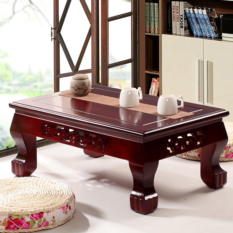 Teaside chinese wood coffee table tatami tables kang