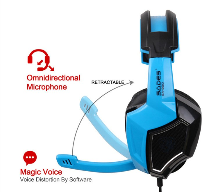 New Sades SA920 Stereo Gaming Headset for Laptop Tablet PS4 PC Gamer Mac XBOX 360 Cellphone Pro Game Headphones with Microphone (5)