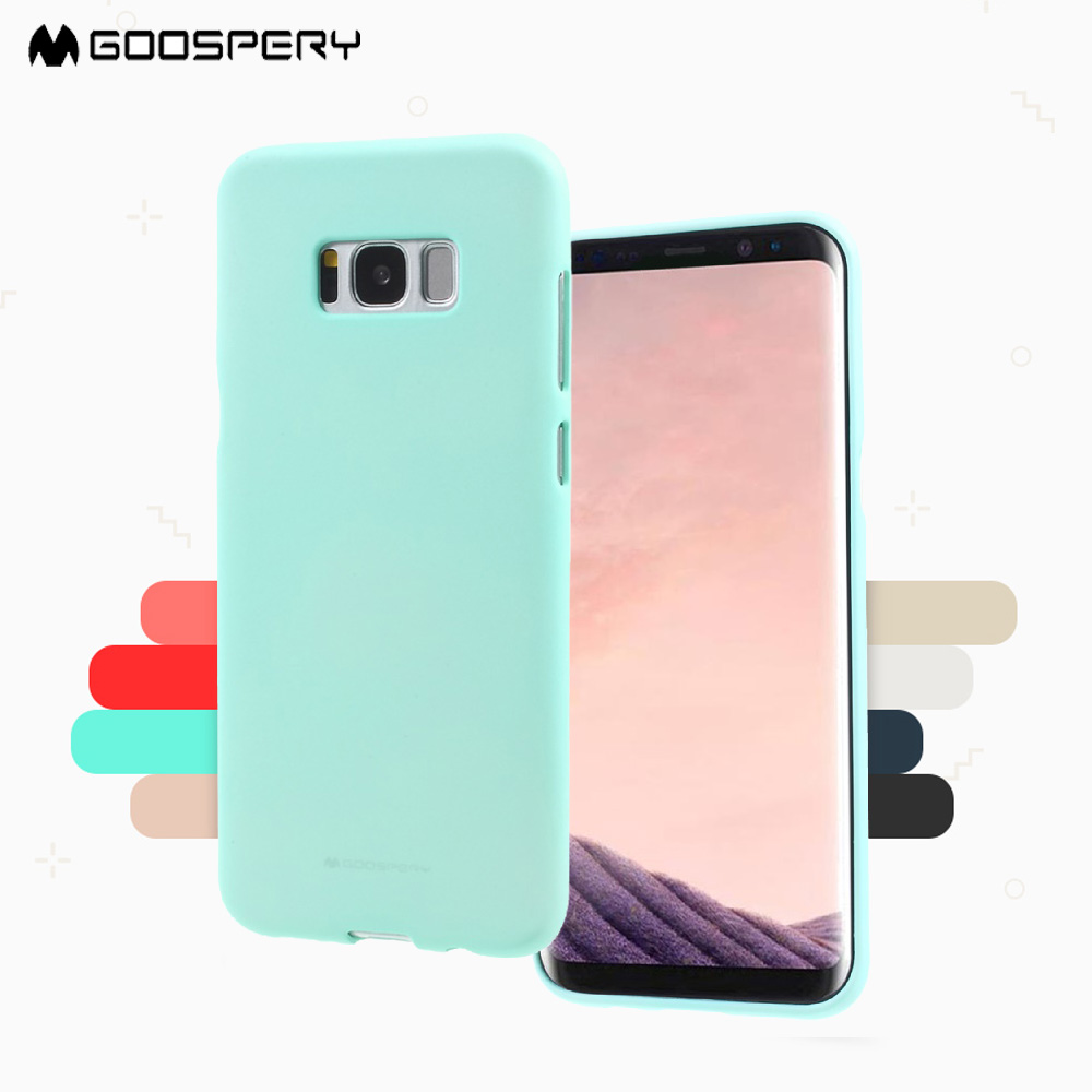 New For Samsung A510 A710 A5 A7 Phone Case Goospery Soft Feeling Galaxy S7 Edge Jelly Black Matte Tpu Back S8 S8plus S6 In Half Wrapped From