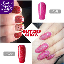 Sexy mix Glitter Neon Nail Gel for Nail Art Full Set UV Gel Kit Manicure Colorful Gel Lacquer Shiny Color Led Gel Nail Polish