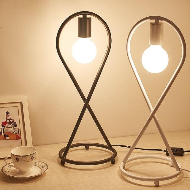 Online Shop Art Decor Table Lamp E27 Holder LED Bulb Desk Lamps ...