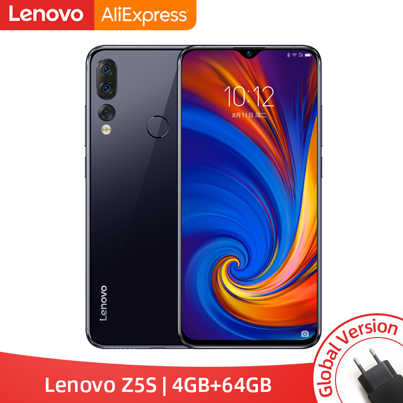 Global Version Lenovo Z5s Snapdragon 710 Octa Core 4GB 64GB Mobile Phone Face ID 6.3inch Android P Triple Rear Camera Smartphone