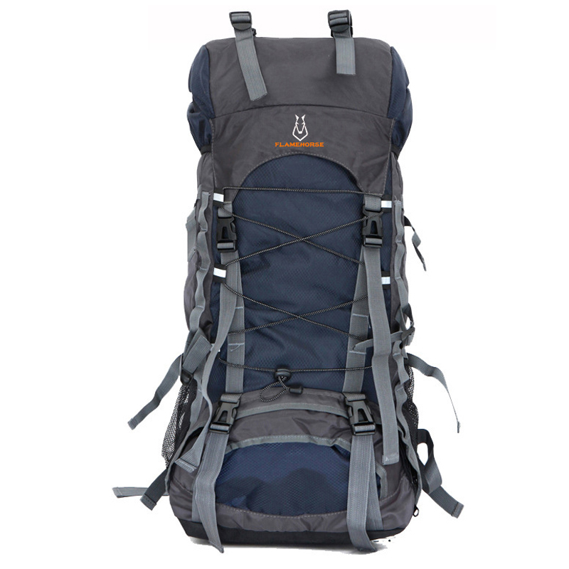 60L Nylon/Oxford Waterproof Dry Bag Outdoor High Quality Travel Backpack Men Women Camping Mountaineering Hiking Backpacks 75l external frame support outdoor backpack mountaineering bag backpack men and women travel backpack a4809