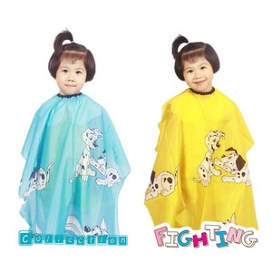Kid Cartoon Dog Dressing Cape Salon Gown Cover Barber Hairdresser Hair Cut Cloth Hairdresser Hair Styling Tools Waterproof Cloth(China)