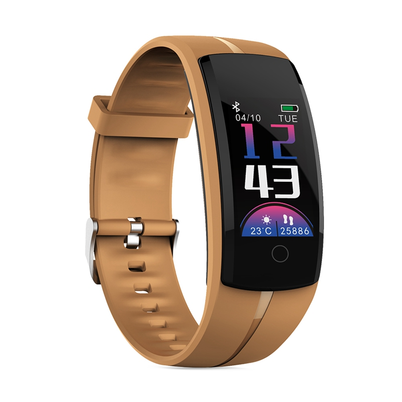 QS100 Smart Watch Fashion Fitness Tracker Screen Led Watch Men Heart Rate Monitor Blood Pressure Measure Watch with Pedometer