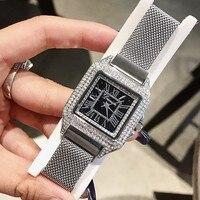 New Women Watches Luxury Brand Stainless Steel Square Dress Wrist Watches Fashion Ladies Casual Quartz Watch horloges vrouwen