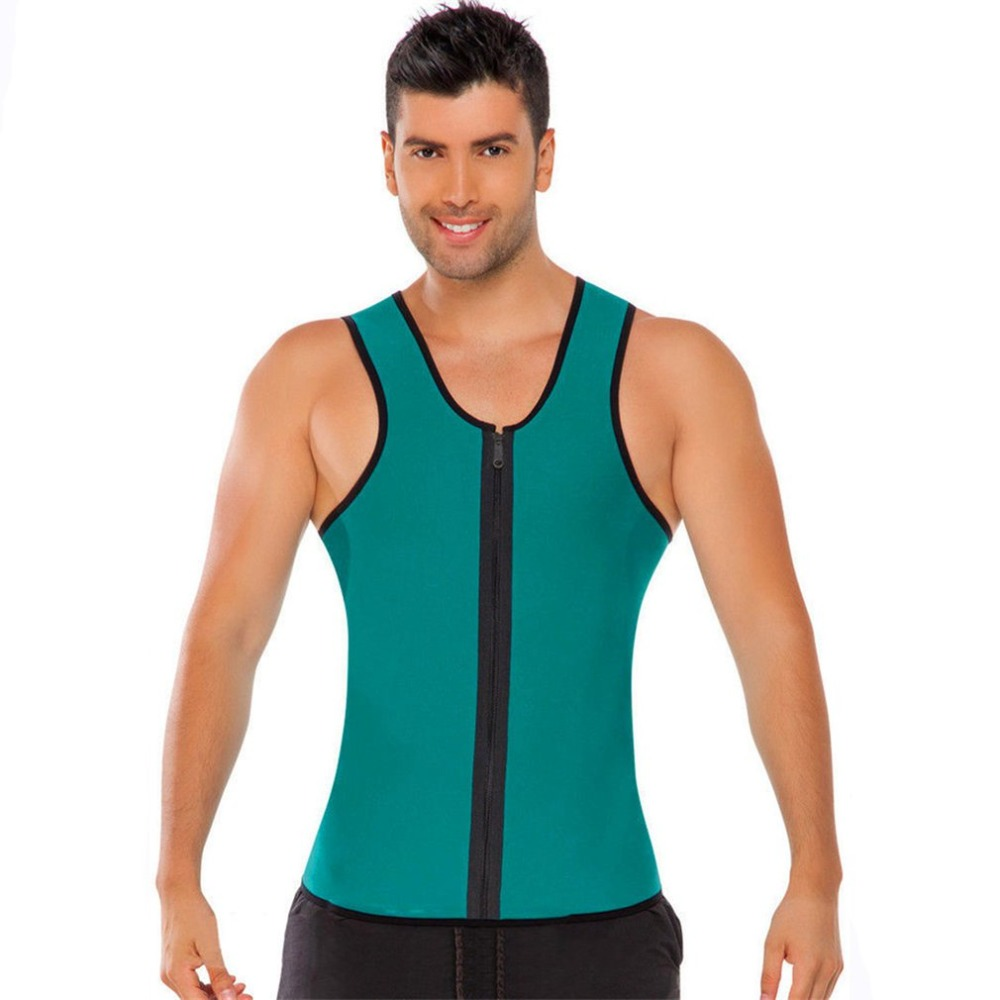 Mens Vest Fitness Compression Singlet Quick Dry Body Shaping Tank Tops Fat Burning Slimming Corset For Men Shapewear
