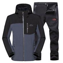 Softshell Veste Hommes Vêtements de Randonnée Imperméable Sport Veste D'hiver Sport Veste Coupe-Vent En Plein Air Vêtements Hommes Sport Manteau