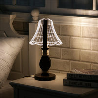 3D 12 LED Night Light Desk Table Lamp Acrylic Reading Light 0 5W Dimmable Switch Novel