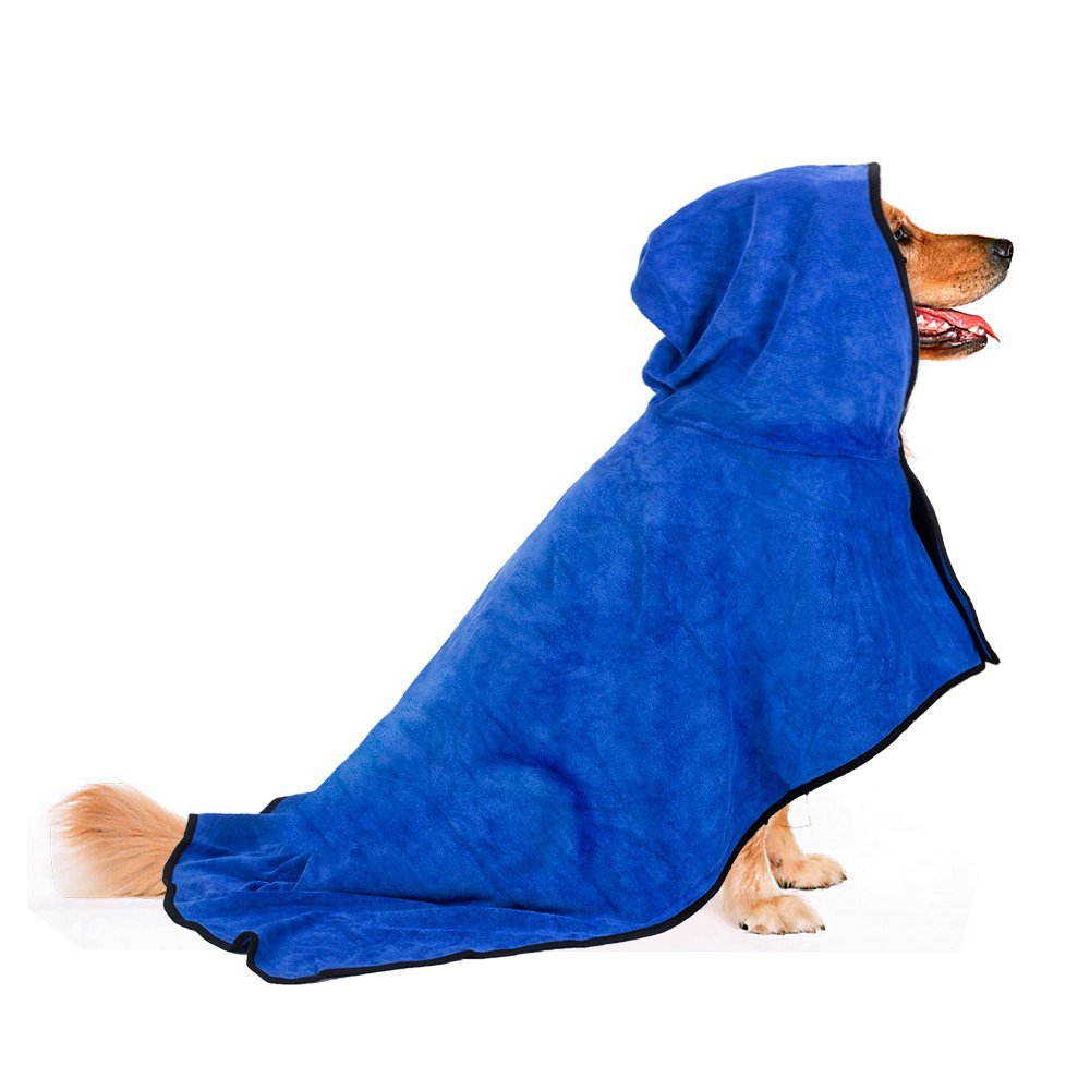 Dog Bathrobe Warm Dog Clothes Pet Bath Towel Grooming Fast Dry Quickly Absorbing Water Bath Robe for Dog and Cat Pet Products