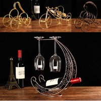 Creative 7styles Fashion Metal Wine Rack Hanging Wine Glass Holder Pirate Ship Shape Bar Wine Holder(wine and cups not include!)