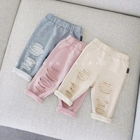 Baby Pants 2018 Spring Summer Baby Clothing Fashion Babe Pants Broken Hole Baby Trousers Kid Wear