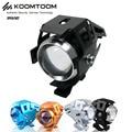 2PCS KOOMTOOM Moto LED Headlight 2400LM U5 Waterproof Driving Motorcycle LED Headlight Fog Light Switch Moto Accessories 6000K