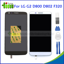 White Black For LG Optimus G2 D800 D802 F320 LCD Display Touch Screen Digitizer Replacement Assembly with Frame +Free Tools
