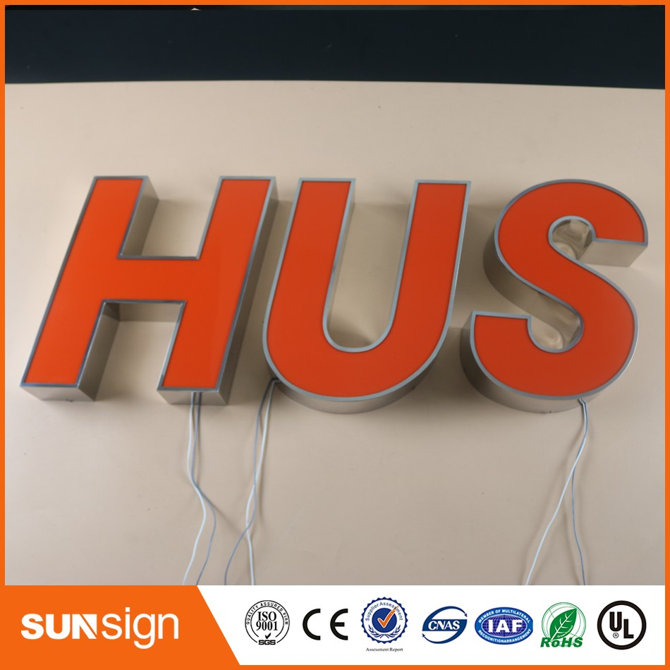 Factory Outlet Outdoor Metal Letter Lights Letras Iluminada Led