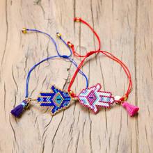Go2boho Evil Eye Bracelets Women MIYUKI Bracelet Jewelry Hamsa Hand Pulsera Mujer 2019 Delica Beads Handmade Strap Dropshipping