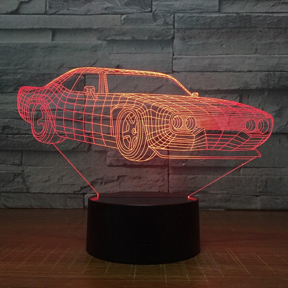 Super Car Table Lamp 7 Colors Changing Desk Lamp 3d Lamp Novelty Led Night Lights Led Light Drop Shipping Kids Gift Decor