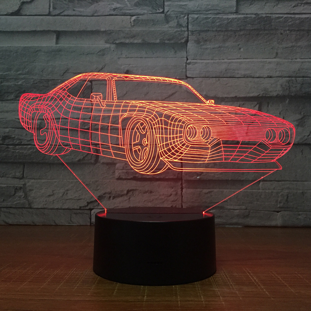 Super Car Table Lamp 7 Colors Changing Desk Lamp 3d Lamp Novelty Led Night Lights Led Light Drop Shipping Kids Gift Decor